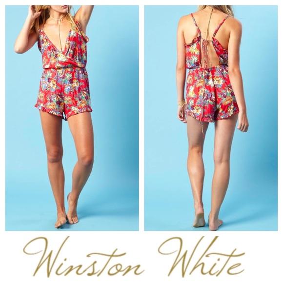 790e70df14f Nwt Winston White Cassie Romper Floral Size Xs